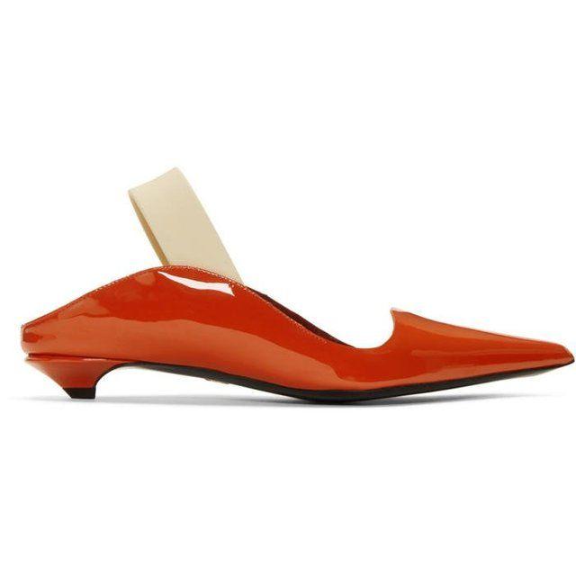 Proenza Schouler Red Patent Wave Strap Heels B5wVRd0hjq