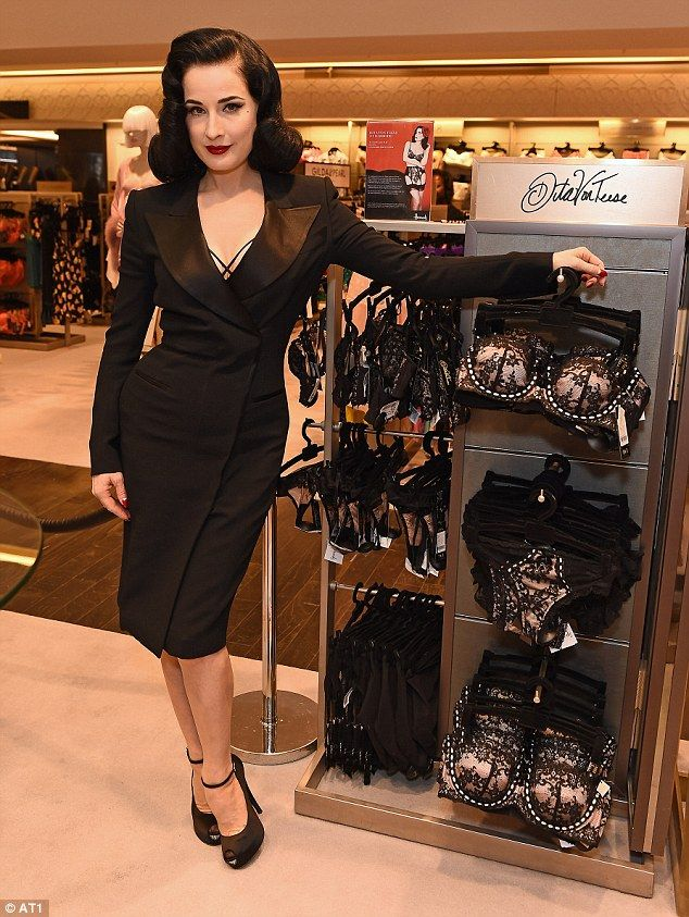 e0c1e2743fd1 Dita Von Teese launched her lingerie collection in Harrods yesterday evening