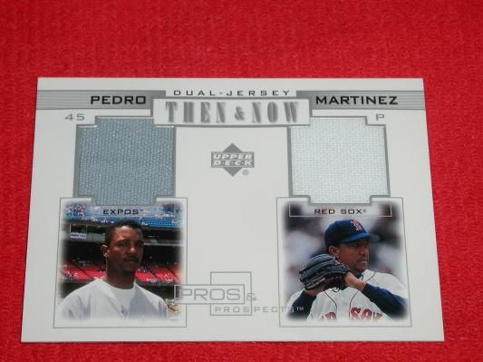PEDRO MARTINEZ 2001 Upper Deck Pros & Prospects Game Used Jersey Card RED SOX & EXPOS free Photons!