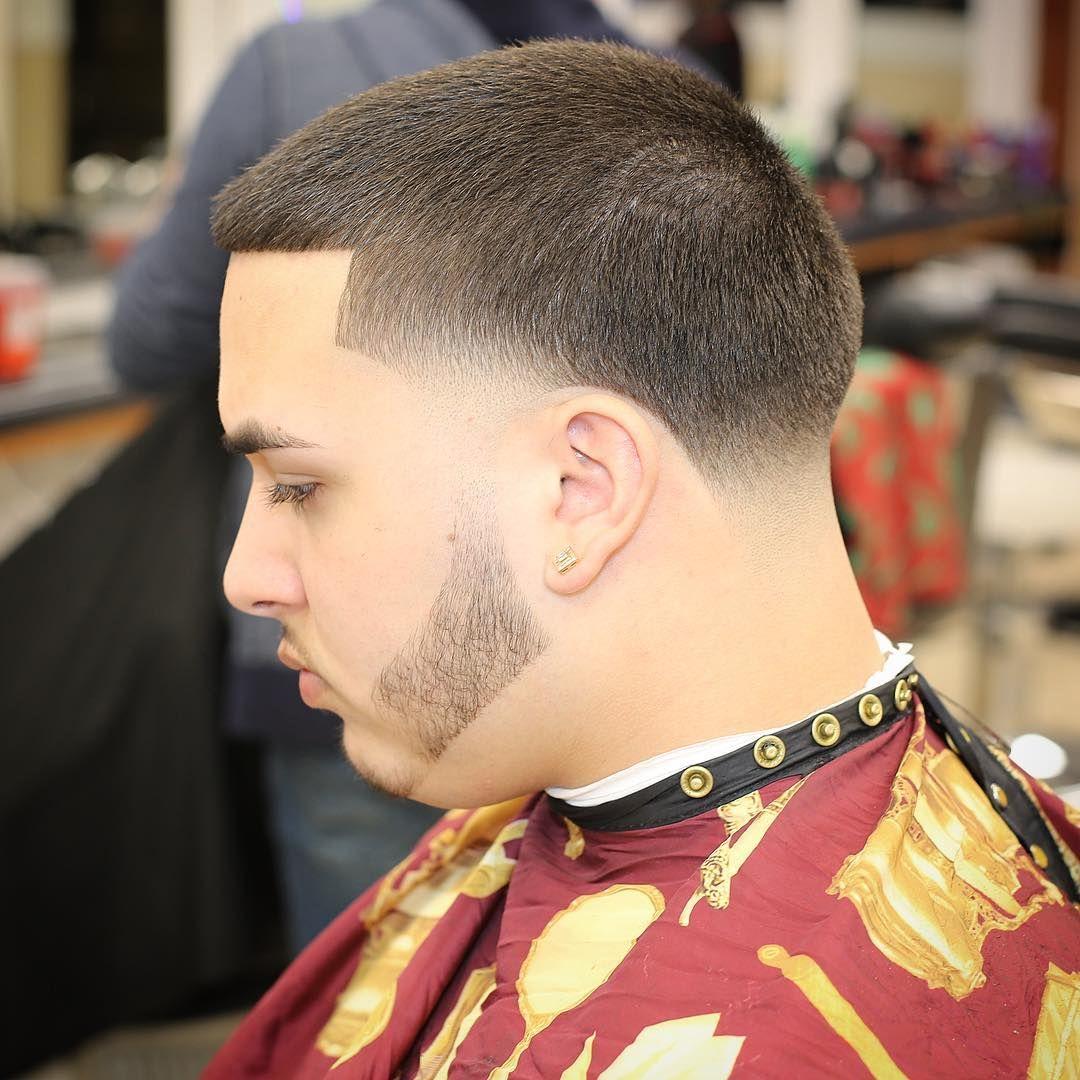 Buzz Cut Taper Fade Disconnected Beard Mens Haircuts Top