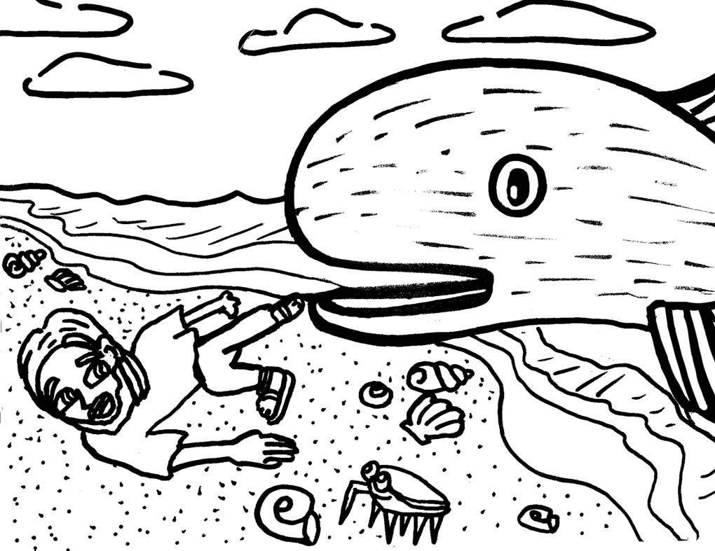 jonah and whale coloring pages | Jonah and the Whale | 2\'s and 3\'s ...