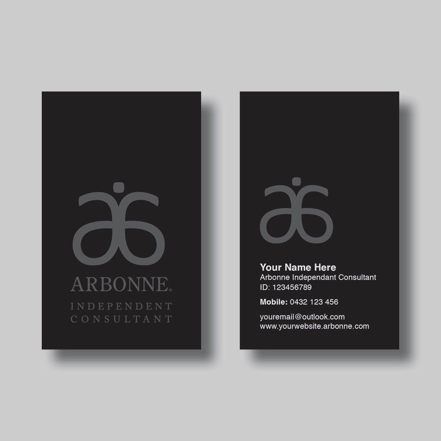 Arbonne Business Card (Simplicity Black) - Digital Design by ...