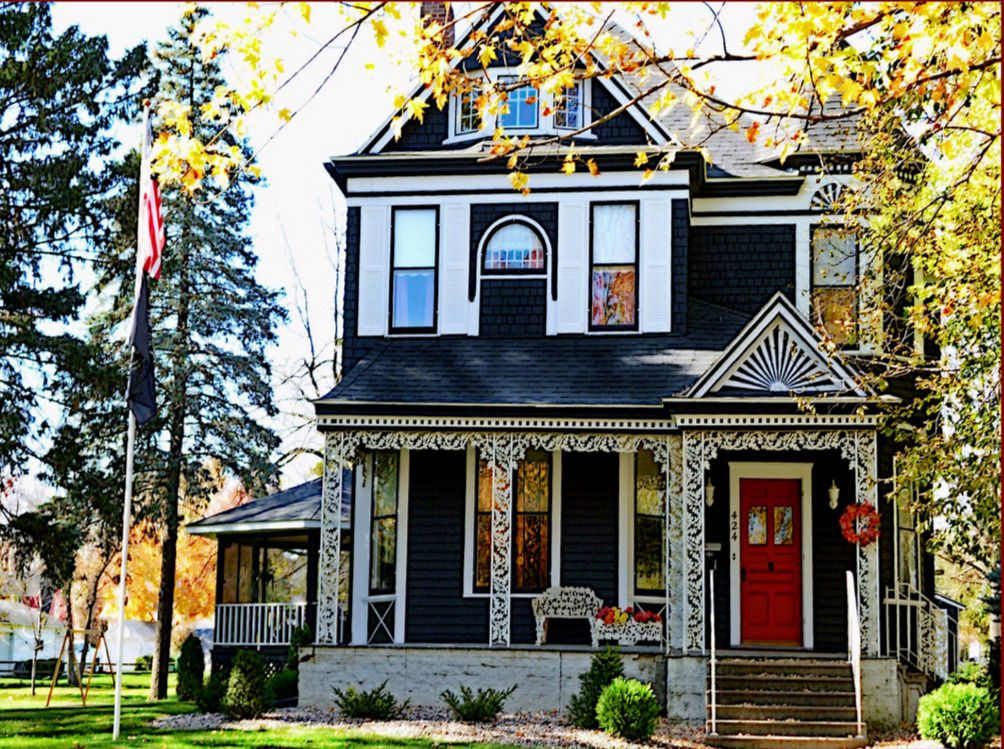 Blue Victorian House Victorian Homes House Paint Exterior