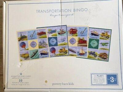 Pottery Barn Kids Transportation Bingo Travel Board Game