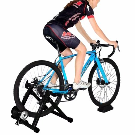 Indoor Bike Trainer Stand Heavy Duty Stable Bike Stationary Riding Stand Supports 350lbs Bicycle Trainer With Quick Release Wheel Block 8 Level Resistance W Indoor Bike Trainer Biking Workout Indoor