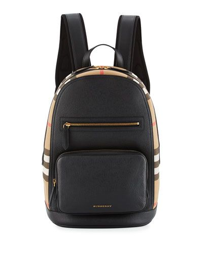 e9ef3fd7d Men's Leather & House Check Backpack in 2019 | *Neiman Marcus ...