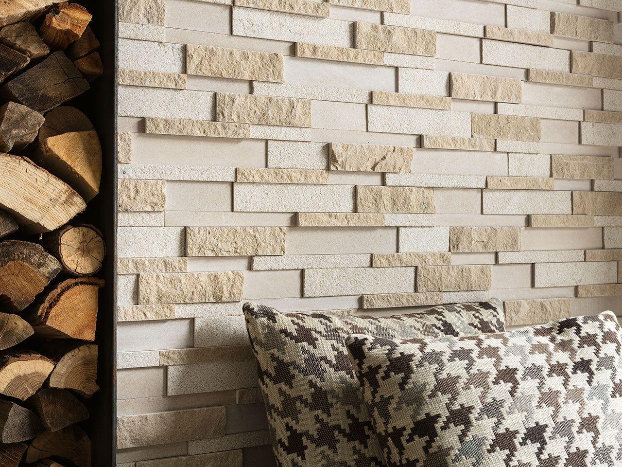 Muretto In Pietra Interno rivestimento milestone sand 12x45 muretto pietra naturale