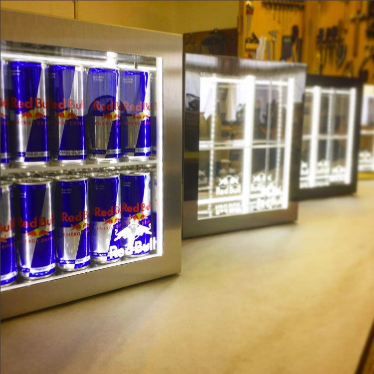 Mike Robinson Furniture Red Bull Uk Bar Top Displays Dibond