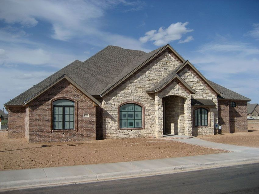 Exterior Trey Strong Custom Homes Stone And Brick