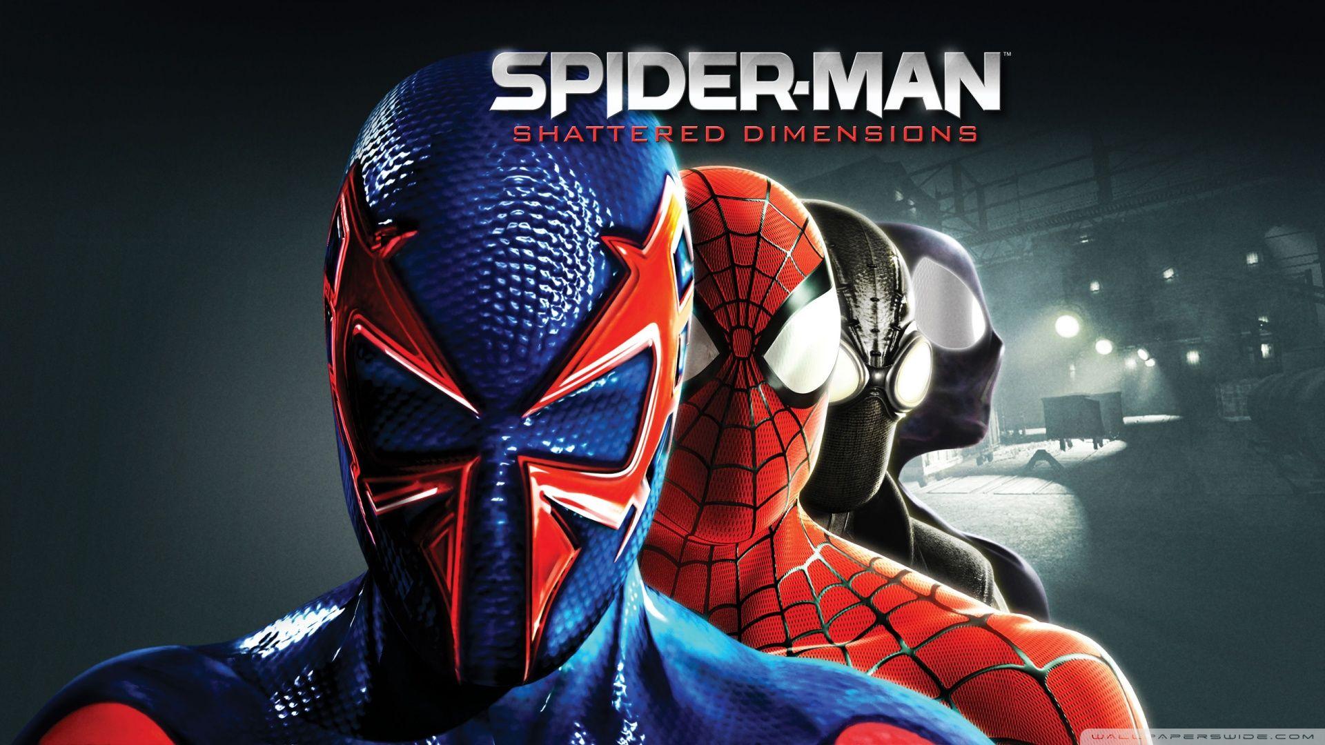 Spider Man Shattered Dimensions Wallpaper Via Http Wallpoper Com Spider Man Shattered Dimensions Spiderman Marvel Comics Wallpaper