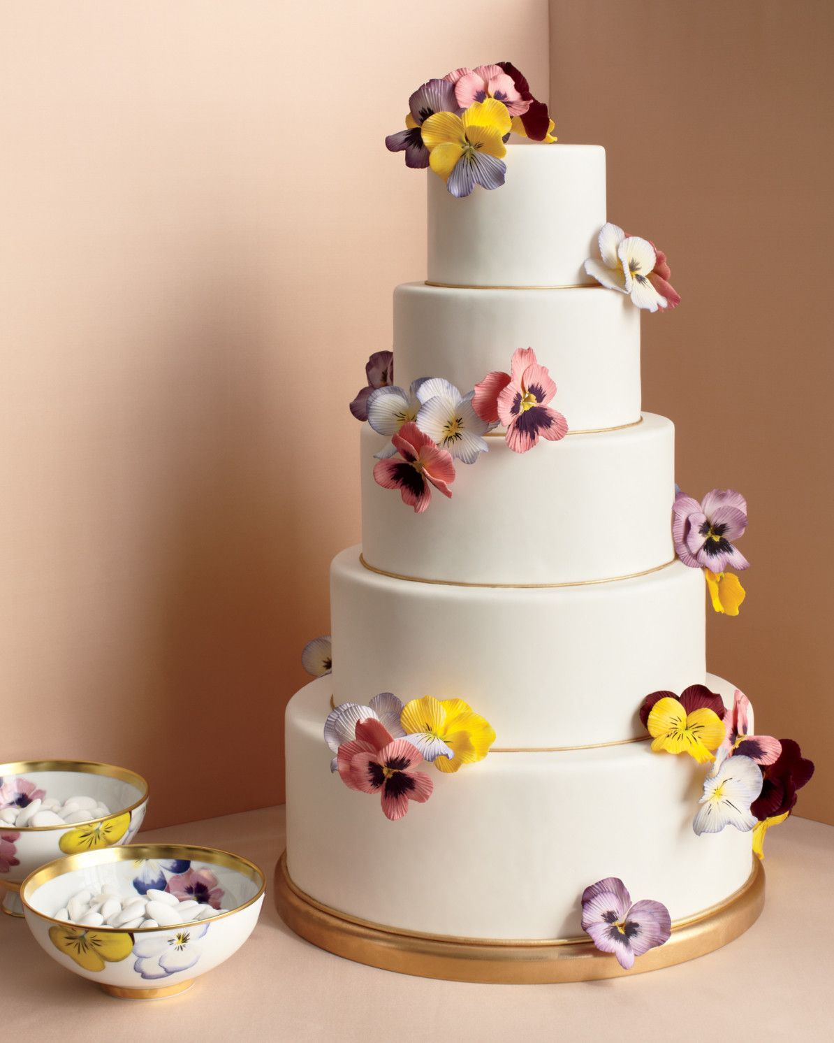 This fivetiered cake by cake designer ron benisrael takes