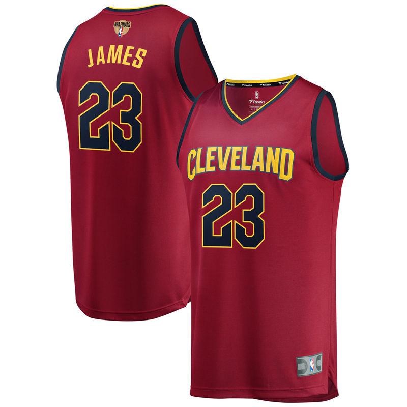 LeBron James Cleveland Cavaliers Fanatics Branded 2018 NBA Finals Bound Fast  Break Replica Player Jersey Maroon 122a0b75a
