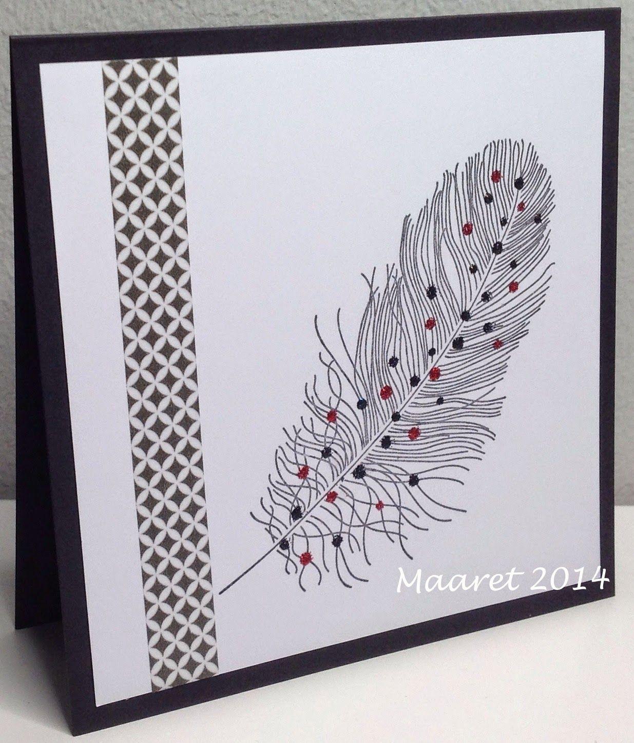 P*skarteluhaaste #231 - Bingo  Papertrey Ink - feather finery