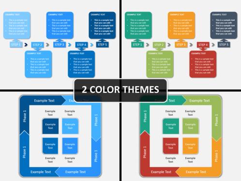 process flow diagram powerpoint template | powerpoint templates, Modern powerpoint