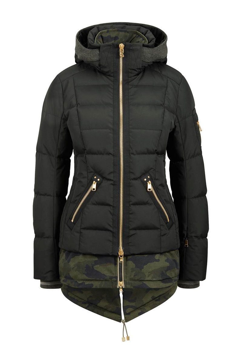 The women s Bogner Dina is a quilted down jacket with an insulated printed  inlay for a 6aa31080d