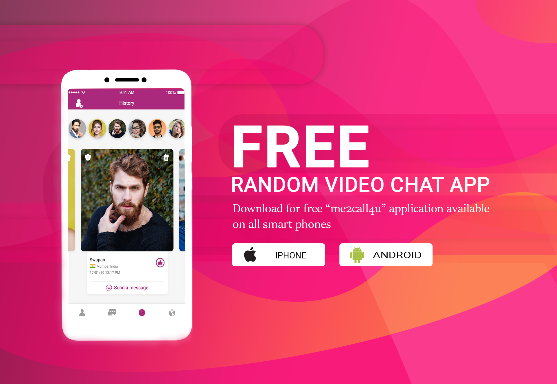 Strangers with free chat app video live Free Random