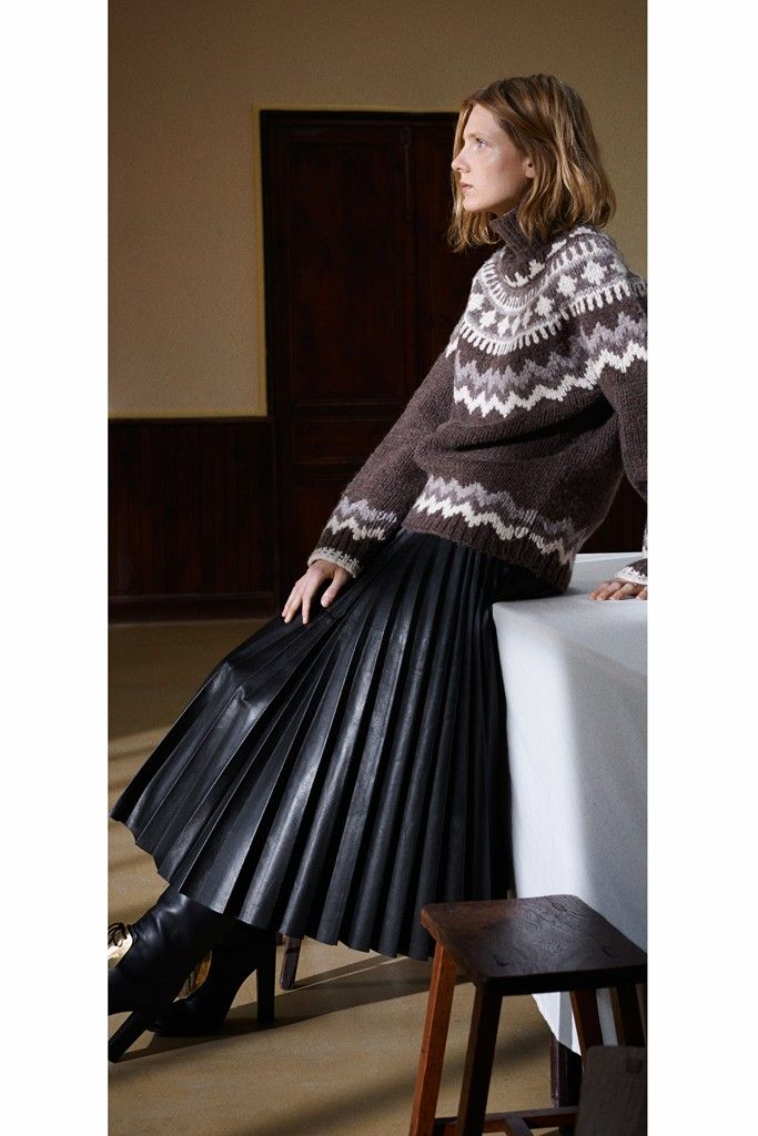Celine long pleated leather skirt | Lovely Fashion | Pinterest ...