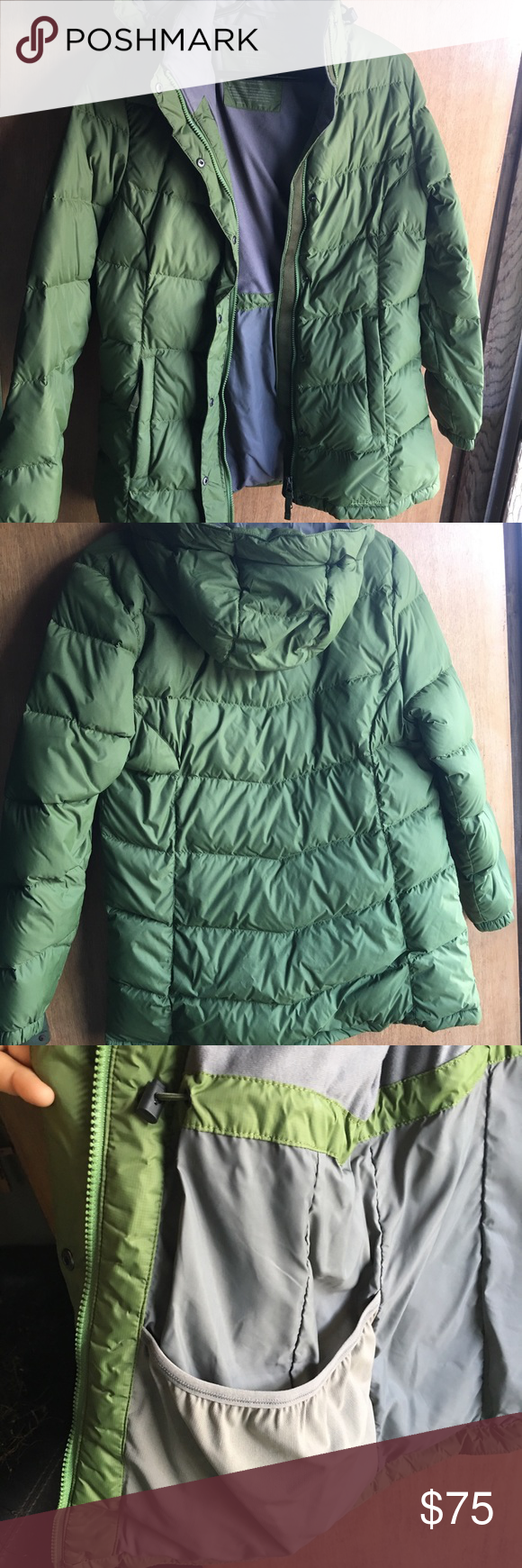 Like new never worn LL Bean down coat. Size Small Pine