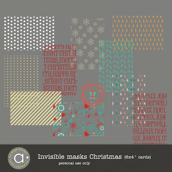 Invisible masks - Christmas | ange designs