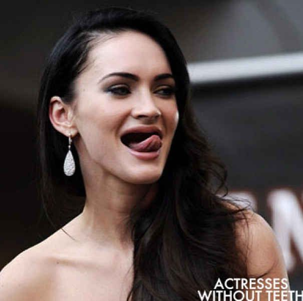 Megan Fox Teeth And Laughter - Celebrities without teeth