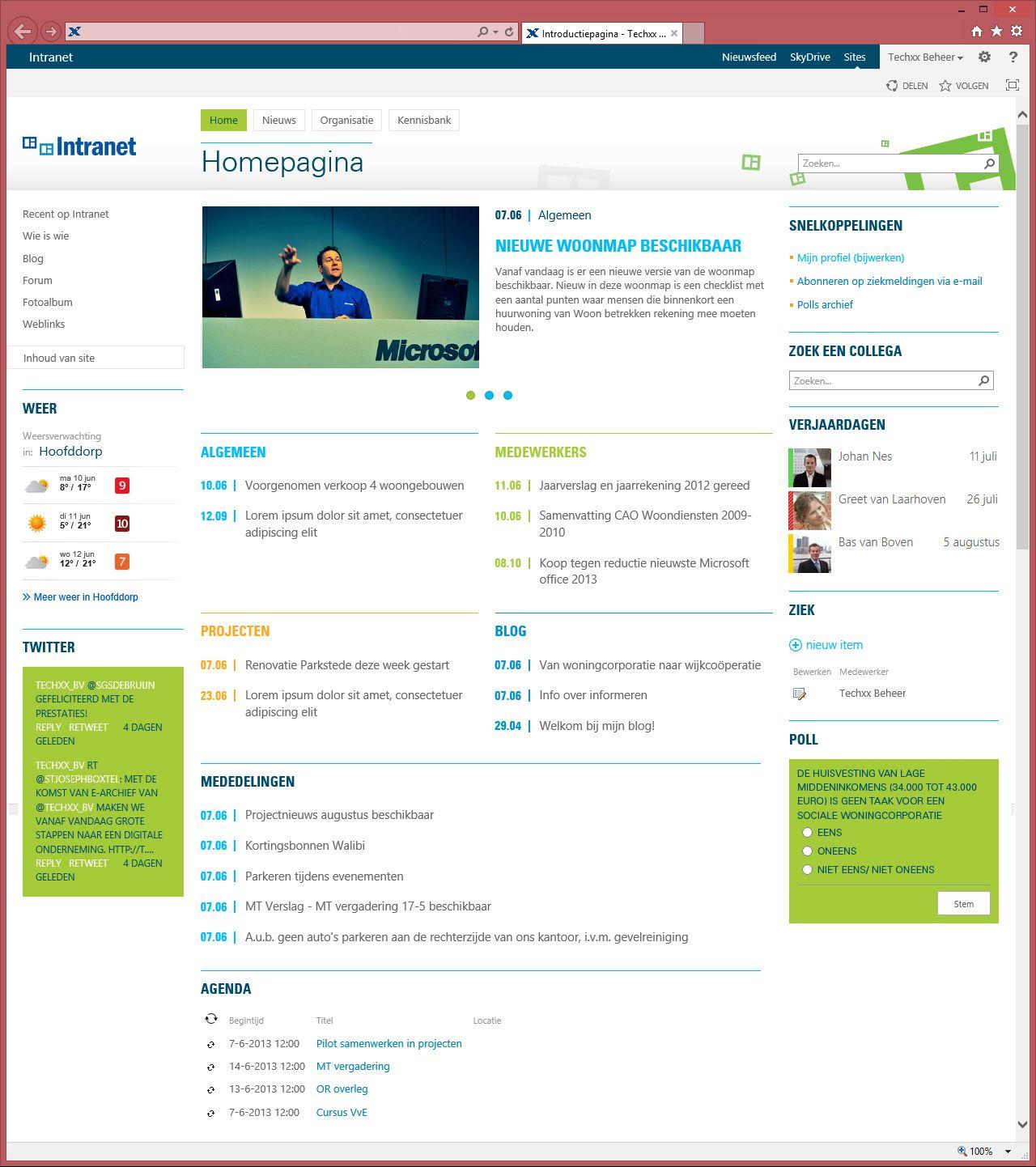 Voorbeeld Intranet Homepage Techxx Nl Jaarrekening
