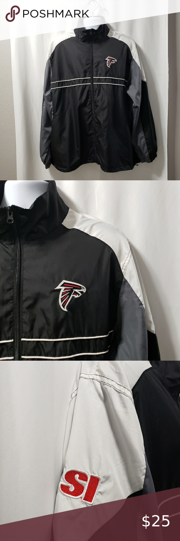 Atlanta Falcons Jacket Dunbrooke Nfl Si Xl Atlanta Falcons Lightweight Full Zip Jacket Made By Dunbrooke Promot Sport Outfits Lightweight Shirts Clothes Design [ 1740 x 580 Pixel ]