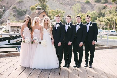 Black Tie Coastal Wedding With Classic Beach Details