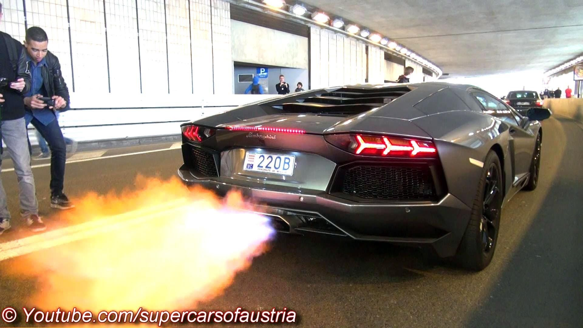 Lamborghini Aventador Shooting Huge Flames Lamborghini Aventador Lamborghini Dream Cars
