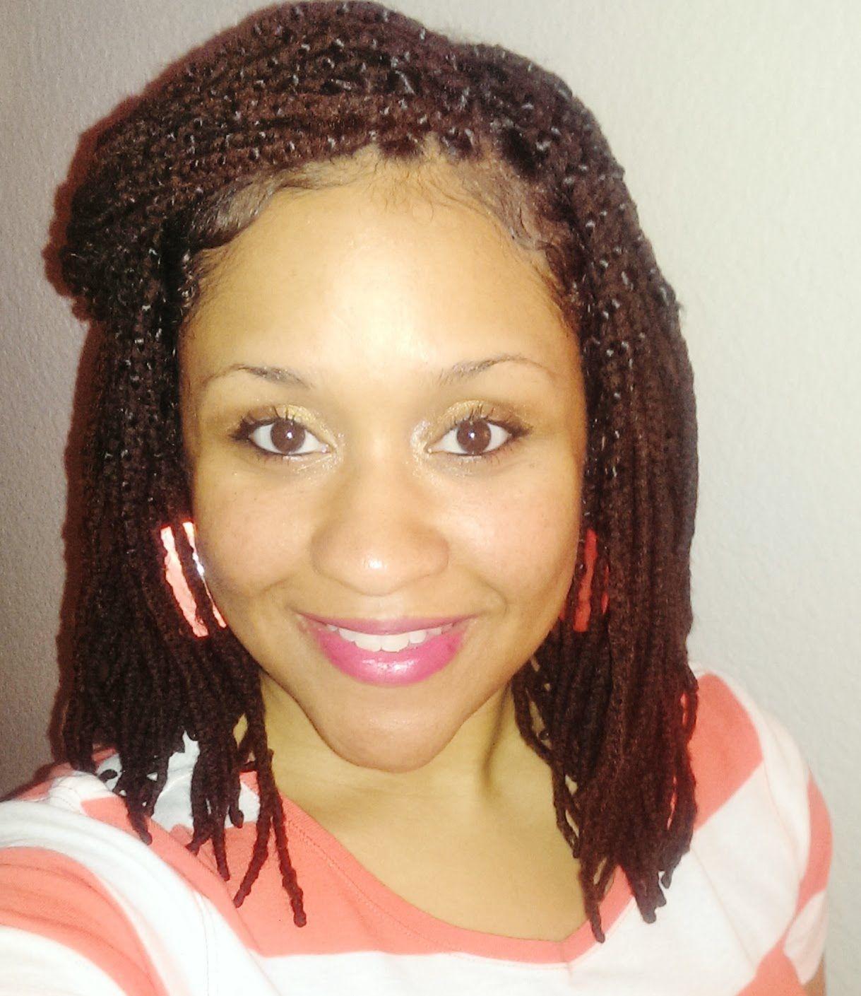 Yarn Braids Genie Locs On Type 3 Natural Hair Protective