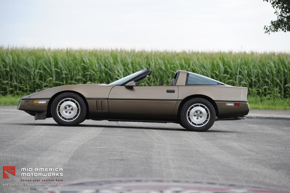 Medium Brown Metallic 1986 C4! This was the first year of