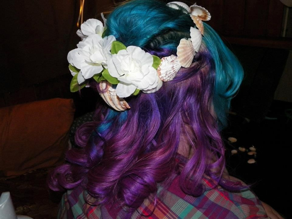 Splat Aqua Rush And Lusty Lavender Multi Colored Hair Cool