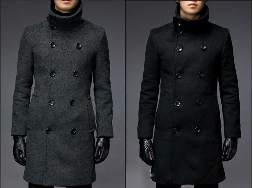 Mens Jackets Coats Collar Jacket Men Winter Long – Wholesale Mens ...