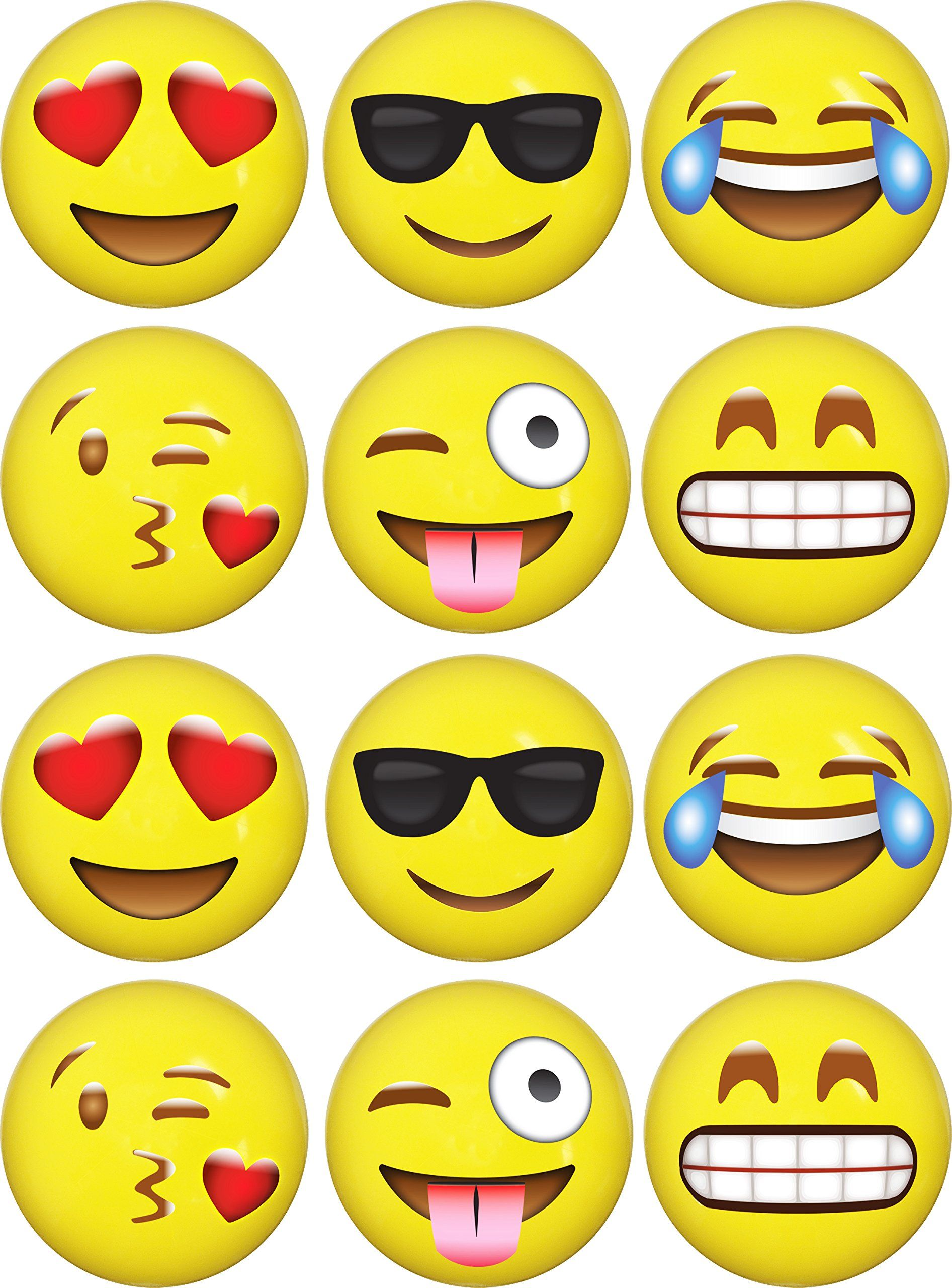 Emoji Inflatable Beach Balls 12 Pack By Liveeco