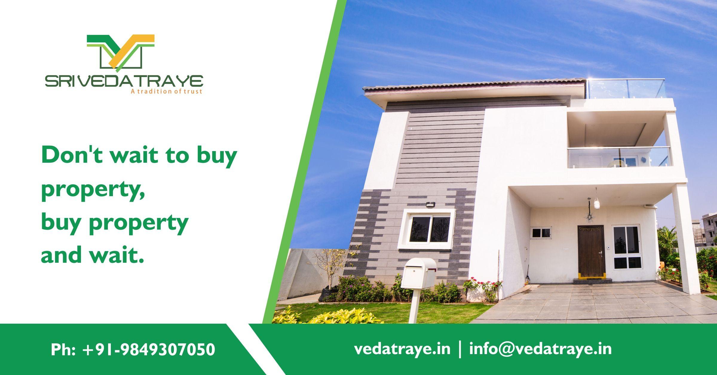 Top Real Estate Company In Hyderabad Vedatraye Developers Plots Villas Top Real Estate Companies Real Estate Companies Real Estate Prices