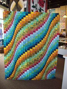 "Spiral Burst Bargello Quilt Pattern | Bargello Quilts Marilyn shared her ""tester"" variation,."