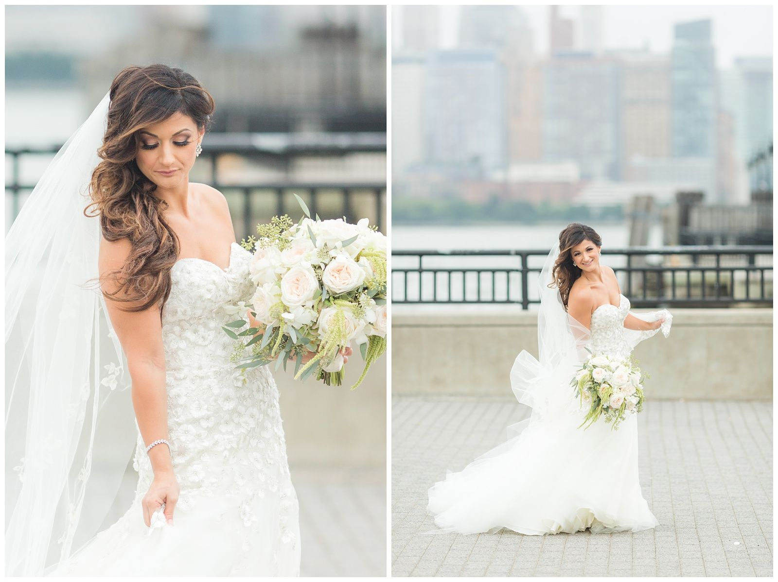 bridal portraits in jersey city, nj | new jersey | liberty