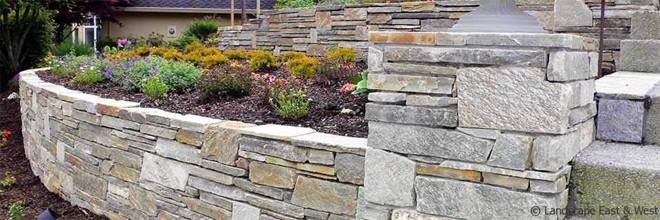 retaining wall designs pictures. Mica Ledgestone Retaining Wall  by Landscape East West Portland Oregon Design Pinterest walls wall design and