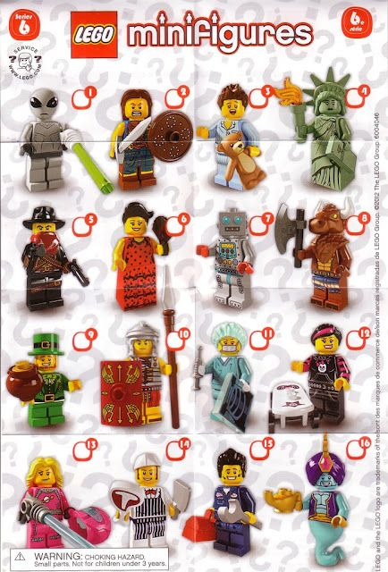 all lego minifigures series list | Lego Minifigures Series 6 List Lego mini…