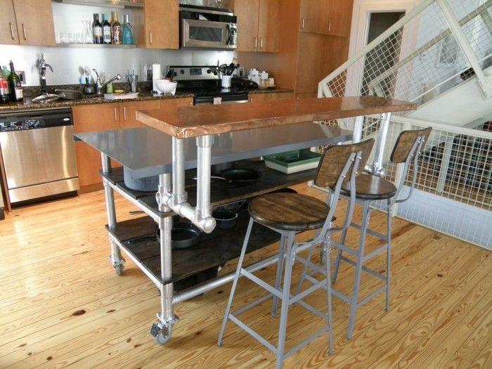 Kücheninsel selber bauen paletten  kücheninsel aus verschiedene materialien | Möbel aus Paletten ...