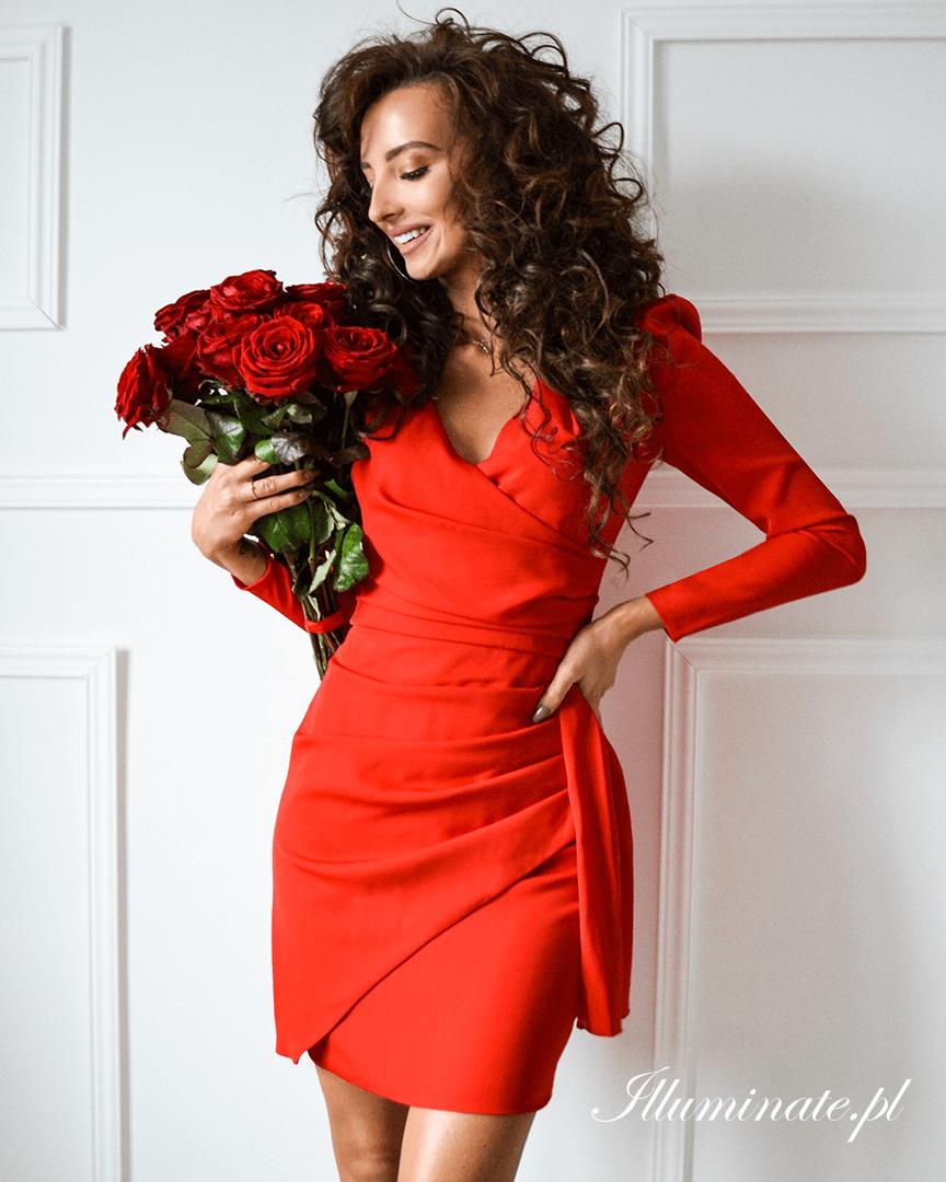 Gaia Czerwona Elegancka Sukienka Na Wesele Dresses Bodycon Dress Fashion