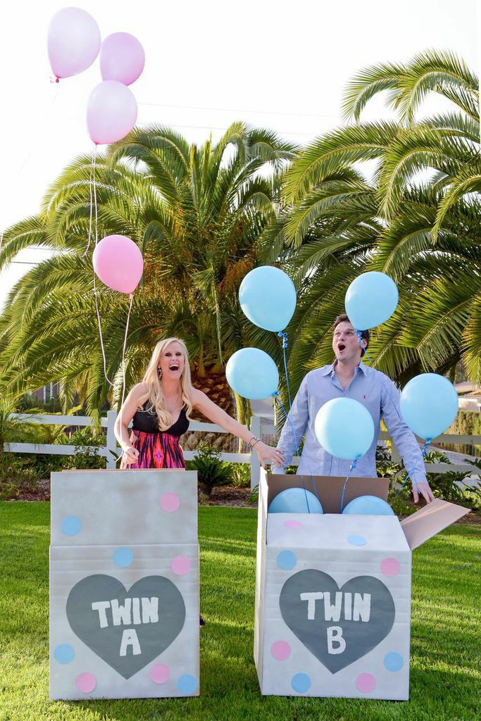 Fitch Twin Gender Reveal Gender Reveal Themes Baby