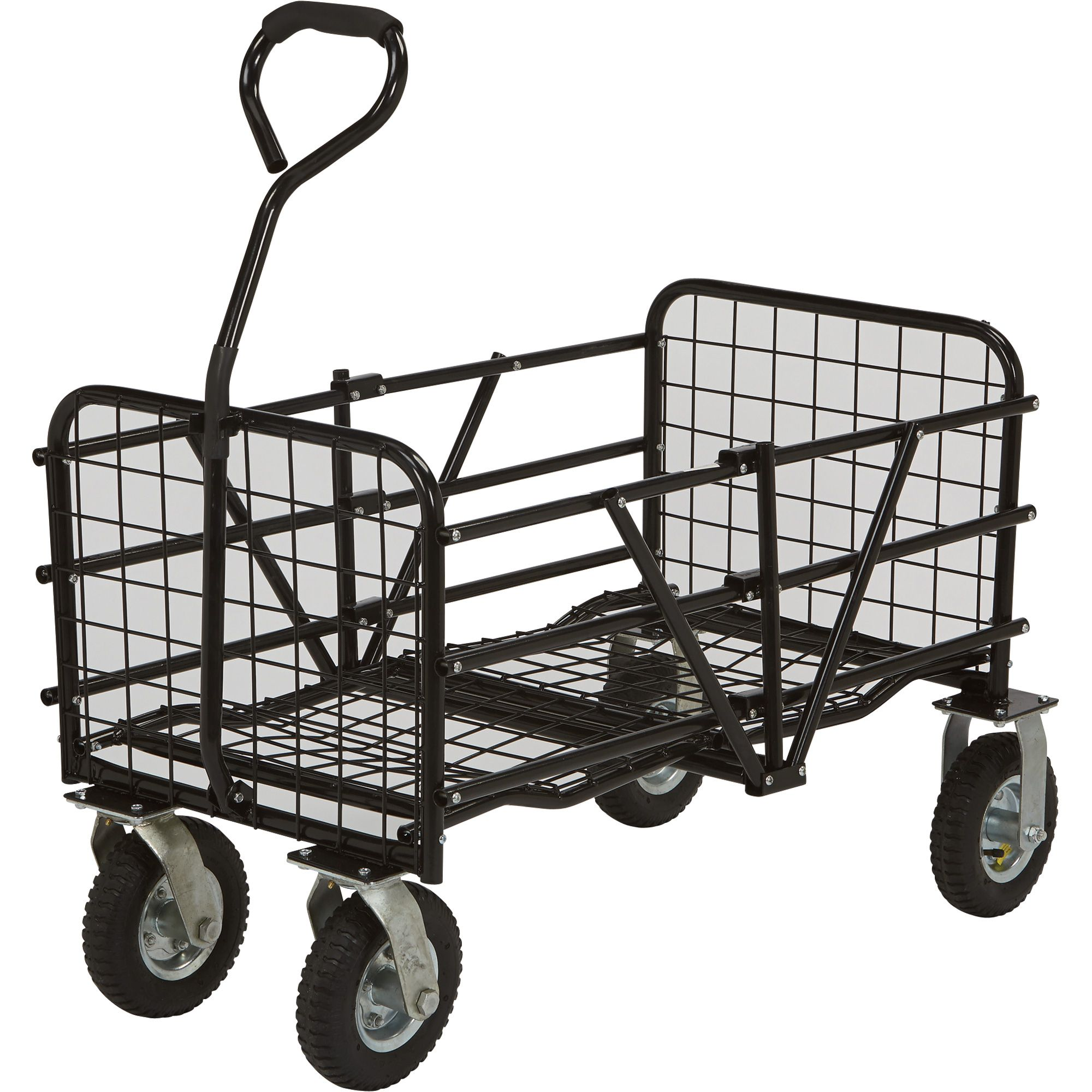 Strongway Folding Utility Cart U2014 49in.L X 25 1/2in.W,