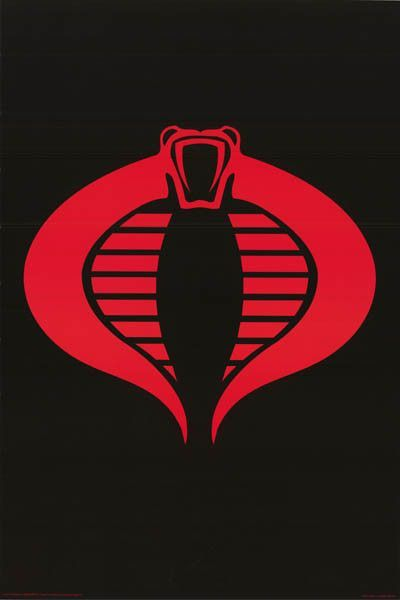 Gi Joe Cobra Logo Poster 24x36 Gi Joe Cobra Cobra Art Gi Joe