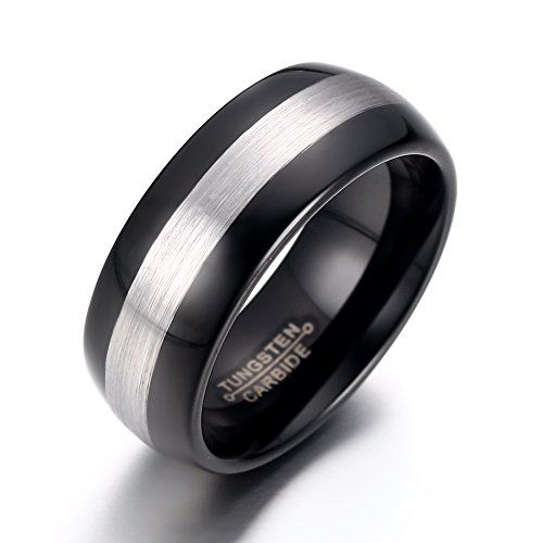 8mm Men's Black Tungsten Wedding Band Ring Comfort Fit Domed Brushed (9). Genuine Tungsten. Comes With Pouch. 8mm Comfort Fit. Hypoallergenic & Cobalt Free. 30-Day Money Back Guarantee.