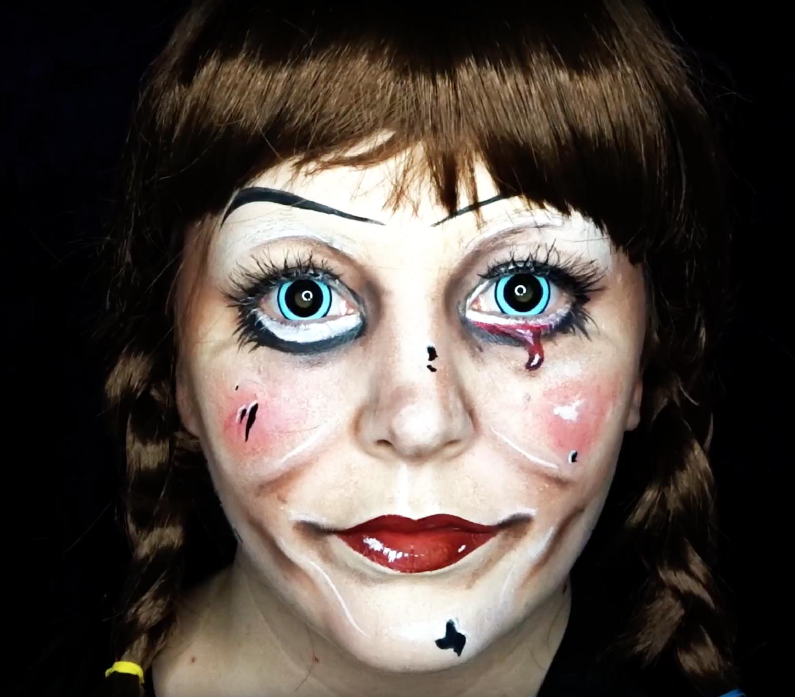 ANNABELLE Makeup Tutorial Annabelle makeup, Makeup
