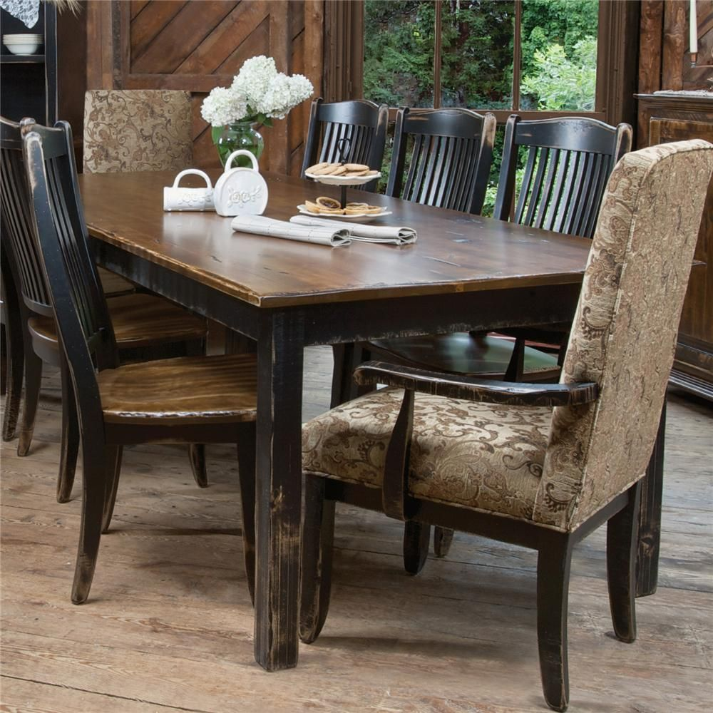 custom dining champlain customizable dining table by canadel with images dining table on boho chic dining room kitchen dining tables id=27014