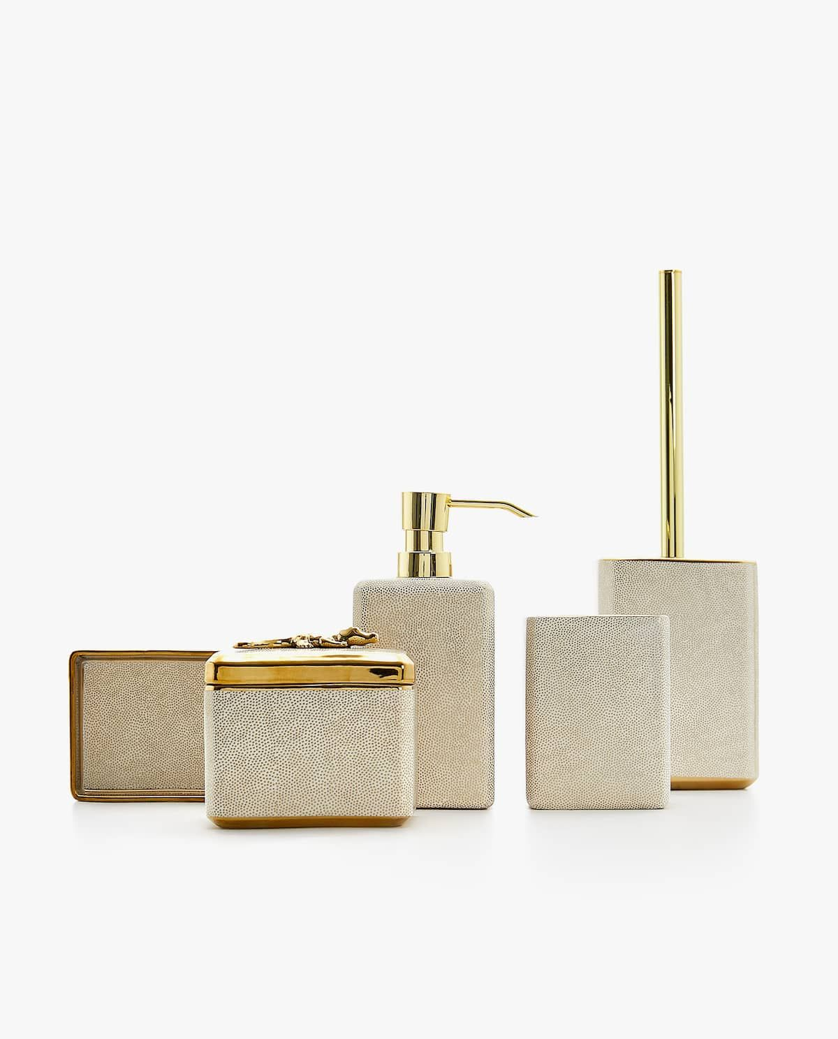 Raised Gold Bathroom Set With Images