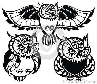 Set of owls   Eulen   Pinterest   Pintar