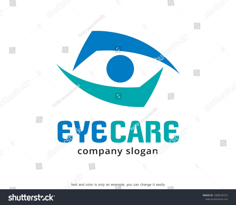 Augenpflege logo vorlage design vektor stock vector