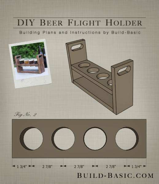Build a DIY Beer Flight Holder  Building Plans by